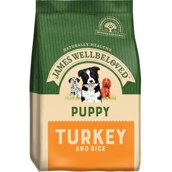 J/w puppy turkey & rice